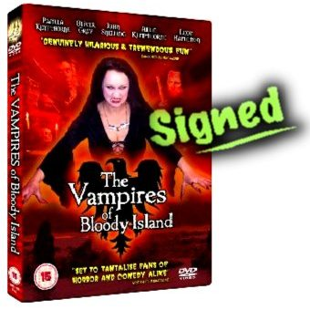 The Vampires of Bloody Island Signed PAL DVD